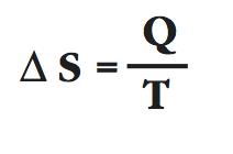 delta S equals Q over T