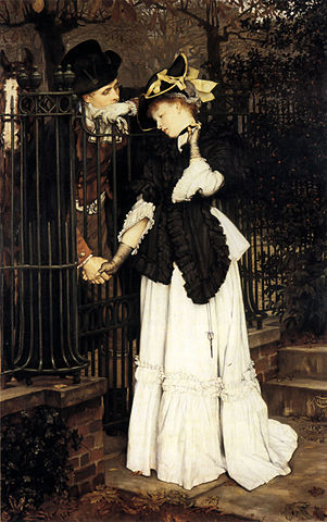 James Tissot, The Farewell, via Wikimedia Commons