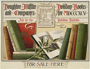 Houghton Mifflin and Company's Holiday Books for MDCCCXCV, via Wikimedia Commons
