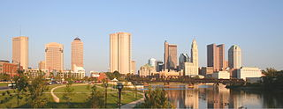 Downtown Columbus, Ohio. Photograph by  Derek Jensen (Tysto), via Wikimedia Commons.