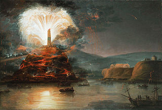 Jan Bogumił Plersch, Fireworks in honor of Catherine II in 1787. Via Wikimedia Commons.