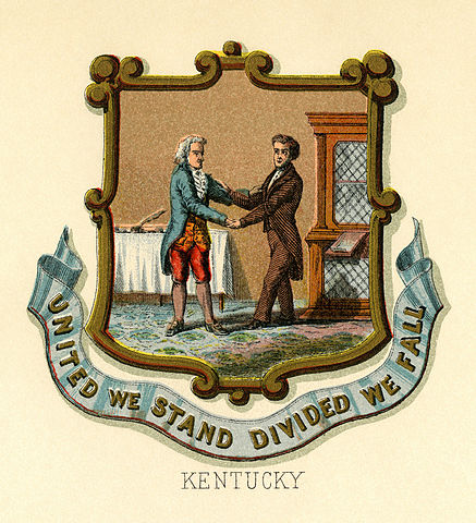 Kentucky state coat of arms, 1876, via Wikimedia Commons