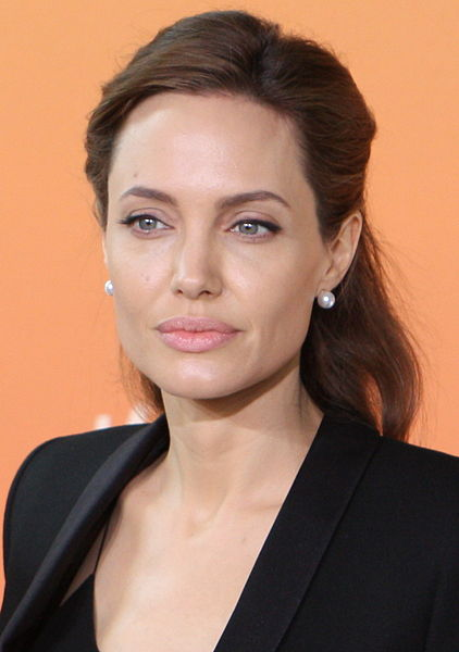 Angelina Jolie. Photograph; Foreign and Commonwealth Office 2014, via Wikimedia Commons.