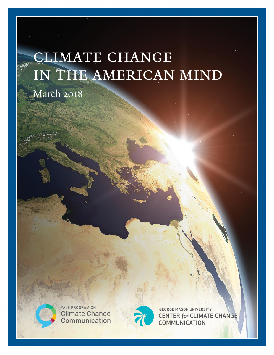 Climate Change in the American Mind: March 2018 cover