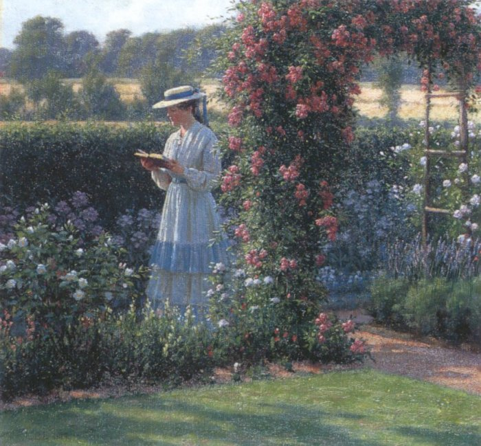 Sweet Solitude, Edmund Blair Leighton, via Wikimedia Commons