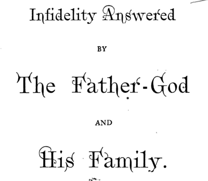 Detail from title page of Robinson's Infidelity Answered