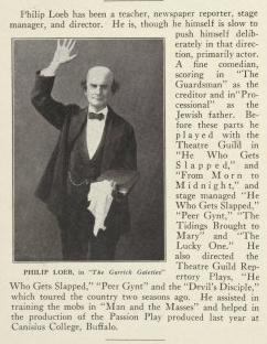 Philip Loeb in The Garrick Gaieties, via NYPL Digital Collections