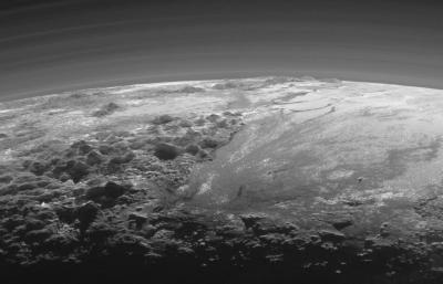 The mountains of Pluto, from the New Horizons spacecraft
