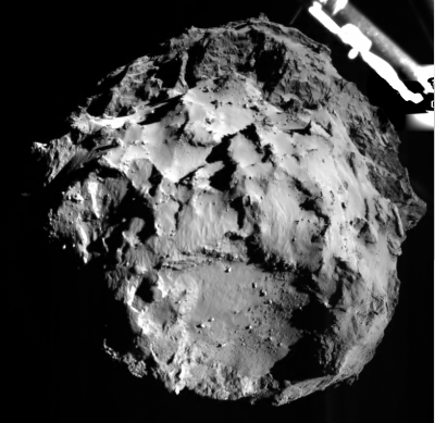 Surface of Comet 67P as Philae descended to the surface