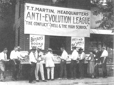 T. T. Martin's stand in Dayton, Tennessee, in 1925