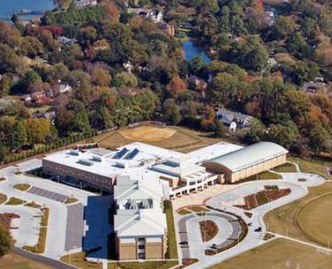 Photo of LEED Gold Great Neck Middle School courtesy of Virginia Beach City Public Schools