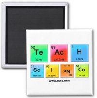 Teach Science Square Magnet