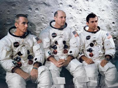 The Apollo 10 crew: Gene Cernan, John Young, Tom Stafford