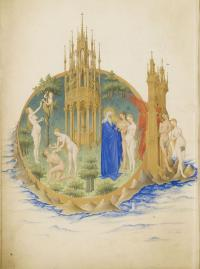The Garden of Eden, from Les très riches heures du duc de Berry