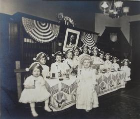 Themed birthday party, ca. 1910-1915, likely in New Jersey. Via Wikimedia Commons.