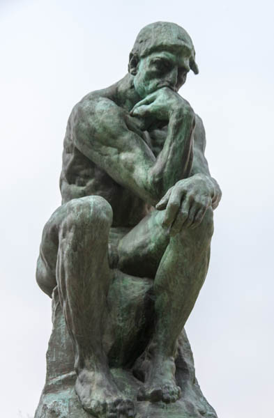 Rodin, The Thinker. Photograph: Frank Kovalchek, via Wikimedia Commons.