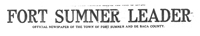 Fort Sumner Leader masthead