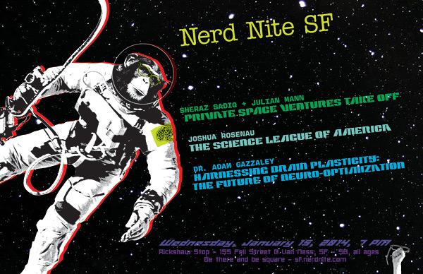 Nerd Nite SF promo card