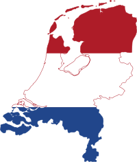 Flag-map of the Netherlands by PavelD from Wikimedia Commons