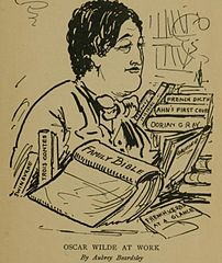 Oscar Wilde (sketch by Aubrey Beardsley)