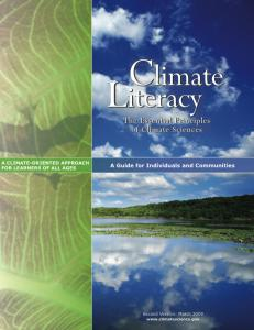 Cover of Climate Literacy: Essential Principles of Climate Science