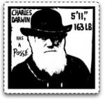 """Charles Darwin has a posse"" image © Colin Purrington. Source: http://colinpurrington.com/graphics/science/darwinposse"