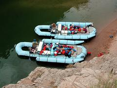 image of two rafts used on the trip
