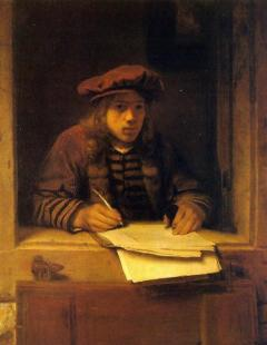 Self-portrait, by Samuel van Hoogstraten