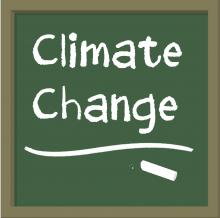 Teaching Climate Change logo by Paula Spence for NCSE, 2012
