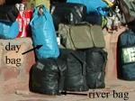 image showing the size of bags provided by the outfitter
