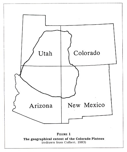 Figure 1: The geographic extent of the Colorado Plateau