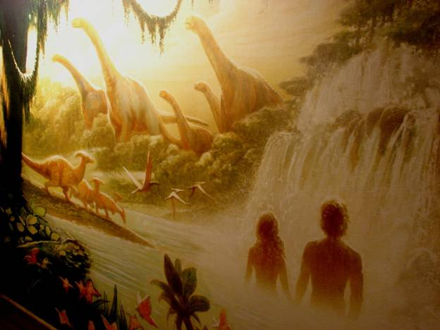 Figure 16. Welcome to Jurassic Park … um … Nudist Colony! ... wait, just kidding, the Garden of Eden!