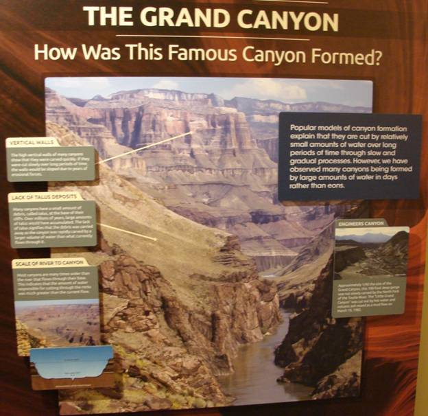 Figure 40. The carving of the Grand Canyon according to Flood geology.