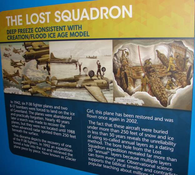 "Figure 43. The ""Lost Squadron"" is used to cast doubt on ice core data."