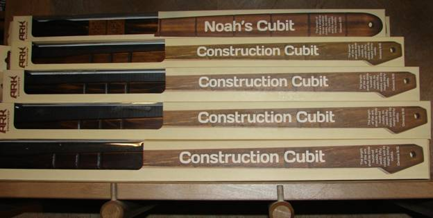 Figure 46. Noah's Cubit and Construction Cubit for only $19.95 each in the gift store.