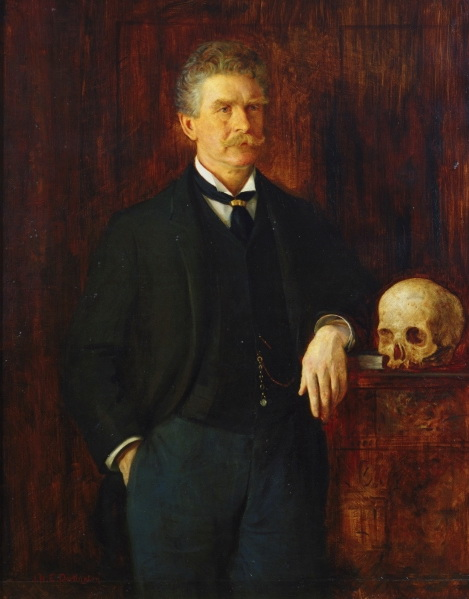 Ambrose Bierce, painting by J. H. E. Partington via Wikimedia Commons