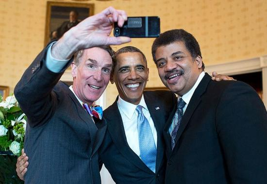 neil degrasse tyson with president obama and bill nye