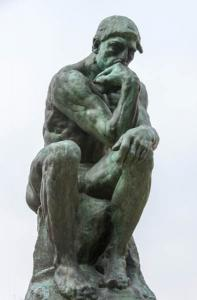 Rodin's The Thinker. Photograph: Frank Kovalchek, via Wikimedia Commons.