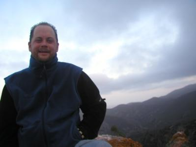 Nick Matzke at Pinnacles National Monument, April, 2008