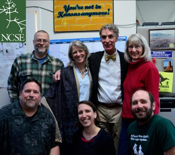 Bill Nye visits NCSE to prep for the debate