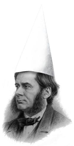 Huxley in a dunce cap