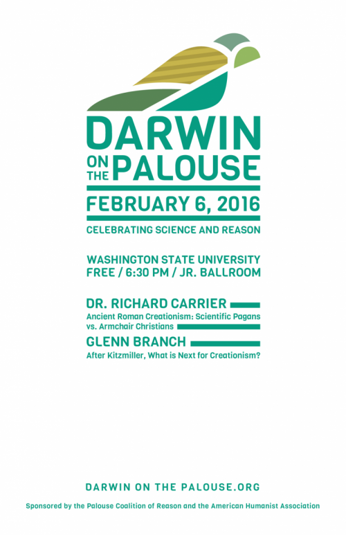 Darwin on the Palouse 2016 poster