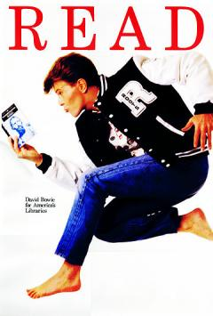 David Bowie for America's Libraries. Copyright, the American Library Association.