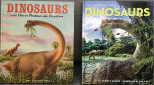 "Comparison of the 1960 Golden Book ""Dinosaurs"" and the 2013 ""Golden Book of Dinosaurs"""