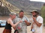 Josh Rosenau, Steve Newton, and Genie Scott in the Grand Canyon