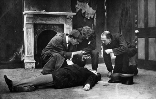 A still from the lost 1914 version of A Study in Scarlet.