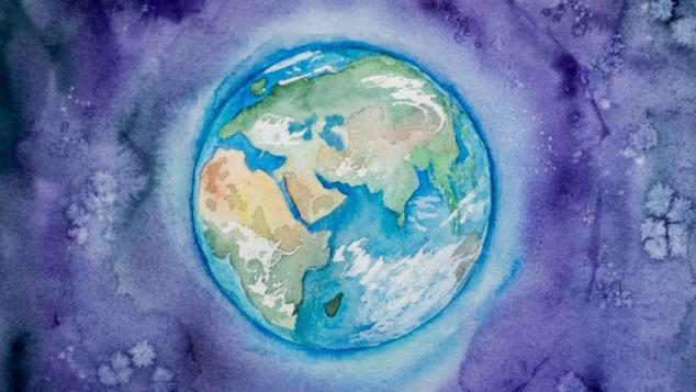 Painting of earth.