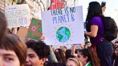 Teens protesting climate change