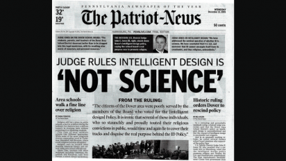 """Not Science"" newspaper headline"