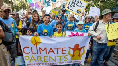 Climate Parents at a recent march